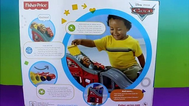 Fishe Price Wheelies Speed 'n Sounds Race Track Disney Pixar Cars with Mater, Lightning McQueen