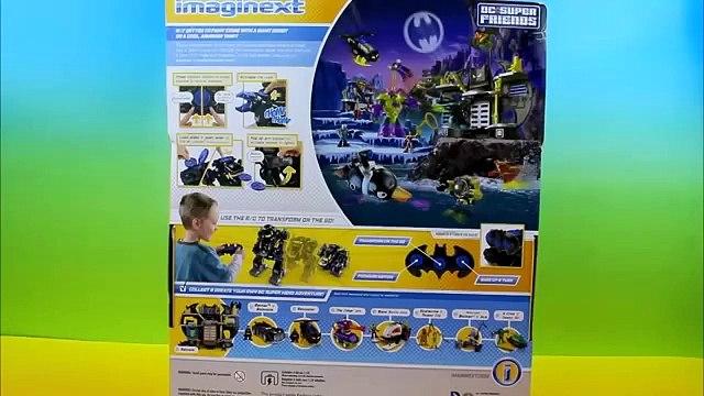 Imaginext R_C Transforming BatBot Batman saves Robin No fire joker penguin