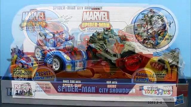 Marvel Spider-Man Adventures City Showdown Spiderman vs. Rhino crashing Cars Just4fun290