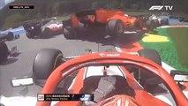 El choque entre las dos Ferrari en Austria