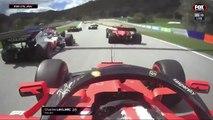 El choque entre Leclerc y Vettel en Austria