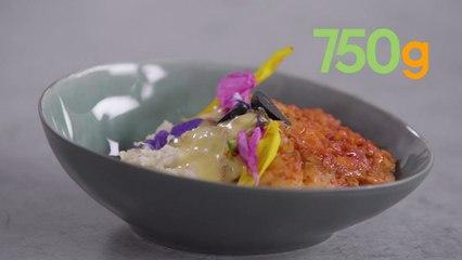 Recette du cabillaud confit à l'ail noir, sabayon vinaigre et pulpe de céleri - 750g