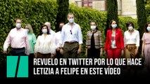 Revuelo en Twitter por lo que hace Letizia a Felipe en este vídeo