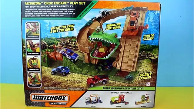 Matchbox On a Mission- Croc Escape Lightning McQueen gets eaten by Croc Mater saves him Just4fun290