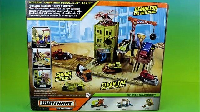 Matchbox on a Mission- Downtown Demolition Mater and Lightning McQueen get Demolished!
