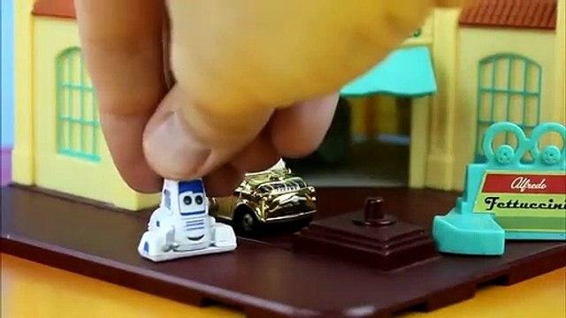 Star Wars Disney Cars Battle Darth Vader Mater fights Luke Skywalker McQueen