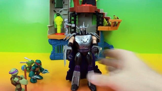 Teenage Mutant Ninja Turtles save April O'neil from the Mutated Shredder TMNT Splinter