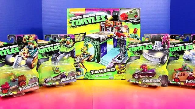 TEENAGE MUTANT NINJA TURTLES T-MACHINES GARAGE & LAIR PLAYSET TMNT Raphael Shredder