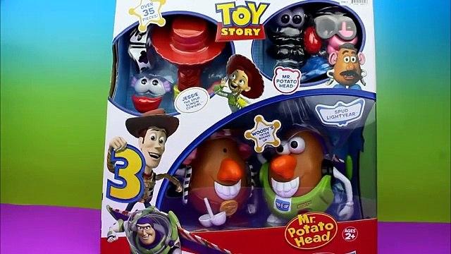 Toy Story 3 Mr. Potato Head Spud Lightyear, Jessy the Spud Slinging Cowgirl Buzz Lightyear