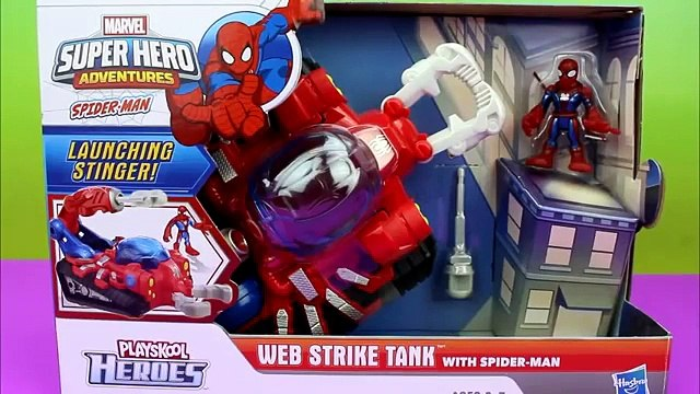 PlaySkool Heroes Web Strike Tank with Spider-Man and Green Goblin
