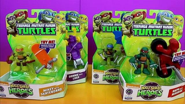 Teenage Mutant Ninja Turtles Half Shell Heroes Mikey, Raph,