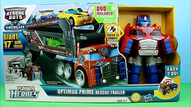 Transformers Rescue Bots Playskool Heroes Optimus Prime Rescue Trailer