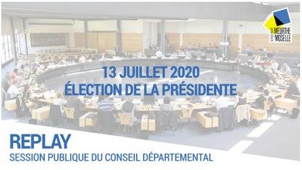 Session du 13 juillet 2020 : élection du président
