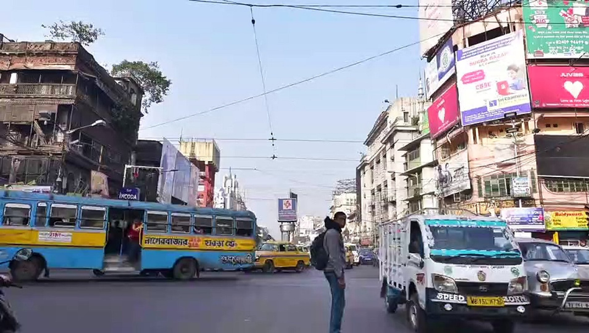 Busy Traffic Of Kolkata,India    Time Lapse Traffic    Kolkata    Calcutta    Kolkata, The City Of J