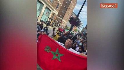 عالقون مغاربة يحتجون أمام القنصلية العامة للمملكة بالمملكة المتحدة