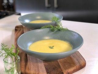 Crema de zanahoria con jengibre - Sonia Ortiz con Juan Farré - Cocina con conexión . Recetas de caldos