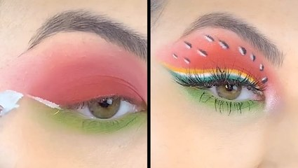 Watermelon-Inspired Eyeshadow Is Our Summer Makeup Goals