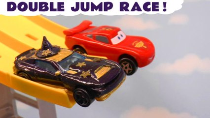 Hot Wheels Jump Race Challenge with Disney Pixar Cars 3 Lightning McQueen and Frozen 2 Queen Elsa in this Family Friendly Full Episode Toy Story for Kids