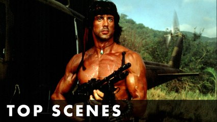 TOP SCENES FROM RAMBO- FIRST BLOOD PART II - Starring Sylvester Stallone