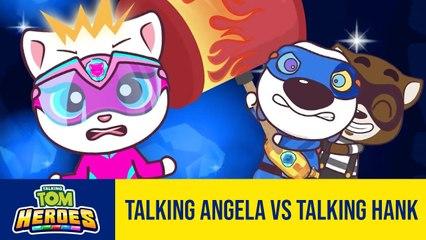 Run!Run!Run!Talking Tom Heroes - Talking Angela vs Talking Hank - 2T Gaming