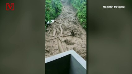 Heart-Stopping Video Shows Moment Where Man Narrowly Escapes Floodwaters