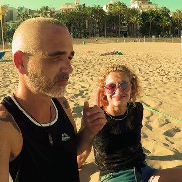 LEVANTE BEACH BENIDORM SPAIN - FACE MASKS ON THE BEACH!
