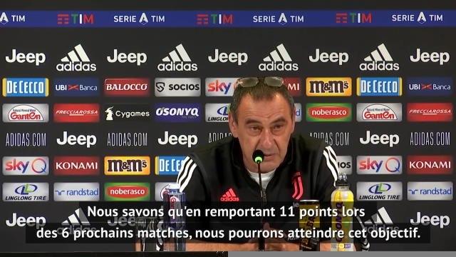 """33e j. - Sarri : """"Le Scudetto n'est pas encore gagné"""""""