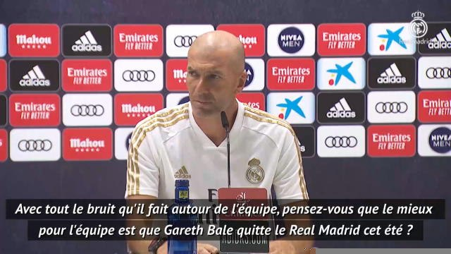 37e j. - Zidane agacé par une question sur Bale