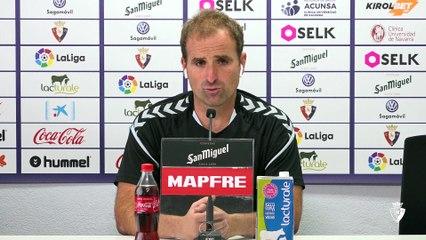 Rueda de prensa de Jagoba Arrasate antes de la visita de Osasuna al Barcelona en el Nou Camp
