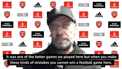 Klopp positive despite defeat to Arsenal ending Liverpool's century dream