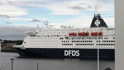 DFDS ferry returns to Port of Tyne after three months as Amsterdam service resumes