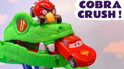 Hot Wheels Cars Challenge Cobra Crush with Toy Story 4 Duke Caboom and Marvel Avengers Hulk plus Disney Cars 3 Lightning McQueen with the Funny Funlings in this Family Friendly Race Full Episode English