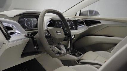 The new Audi Q4 Sportback e-tron concept Interior Design in the studio