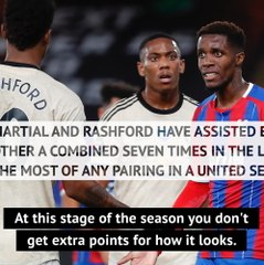 Solskjaer delighted with Rashford and Martial's positive partnership