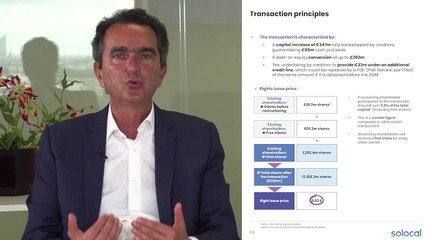 Solocal - Pierre Danon shares the transaction highlights