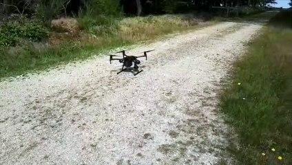 Le drone utilisé par les pompiers de la Sarthe