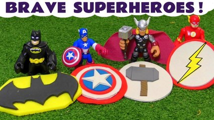 Marvel Avengers and DC Comics Superheroes Logos Rescue with Batman and the Funny Funlings with Thomas and Friends in this Family Friendly Full Episode English Toy Story for Kids