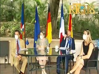 Yon avyon ki gen ladann 70 tòn materyèl medikal rantre an Ayiti pou malad Covid-19, yon inisyativ UE