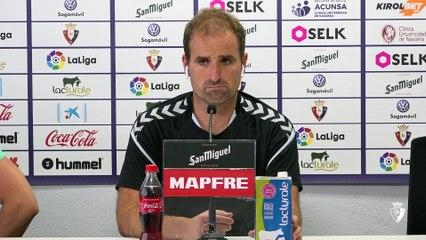 Declaraciones de Jagoba Arrasate antes del último partido de liga frente al Mallorca en Pamplona