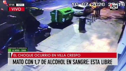 Así chocó y mató a un delivery con 1,7 de alcohol en sangre