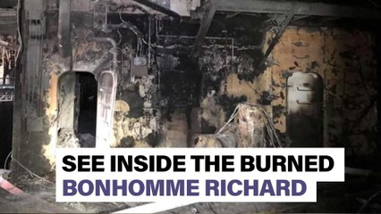 Go inside charred interior of Navy ship that burned for four days