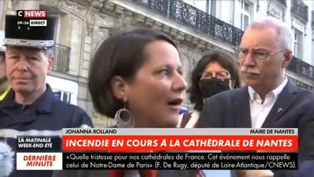 Incendie à la Cathédrale de Nantes - Regardez l'intégralité du premier presse qui s'est tenu ce matin à 10h avec la maire et le responsable des secours -