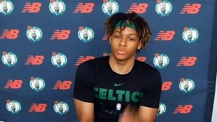 Romeo Langford Boston Celtics Press Conference Friday (Full)