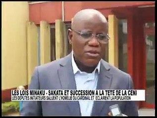 """Les députés nationaux Aubin MINAKU ET SAKATA étaient chez le cardinal FRIDOLIN AMBONGO ce dimance. """""""