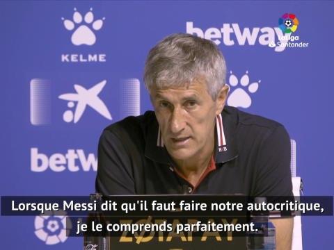 """Barcelone - Setién : """"J'ai toujours senti le soutien du club et de l'équipe"""""""