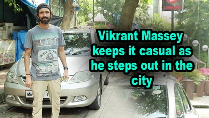 Vikrant Massey keeps it casual as he steps out in the city