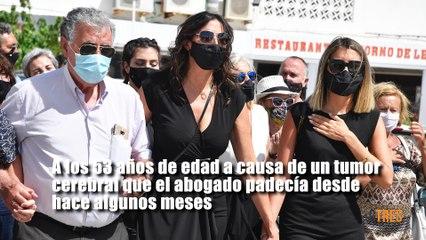 Paz Padilla, rota de dolor en el último adiós a su marido, Antonio Juan Vidal