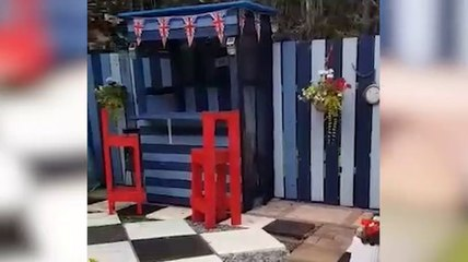 South Shields garden after lockdown transformation