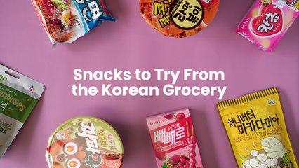 Must-Try Snacks From Korean Groceries