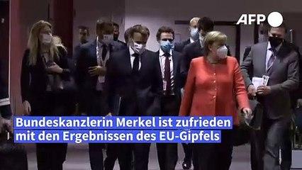 """Merkel lobt Antwort auf """"größte Krise"""" seit Bestehen der EU"""